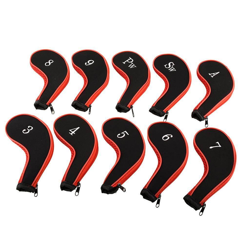 Set Dari 10 Pcs Golf Iron Headcovers Kepala Sarung Melindungi Kasus Luar Ruangan Baru By Lejun Store