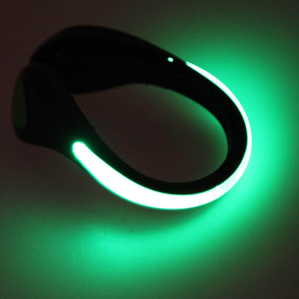 2pc Led Luminous Shoe Clip Light Night Safety Warning Cycling Running Sport By Highfly365.