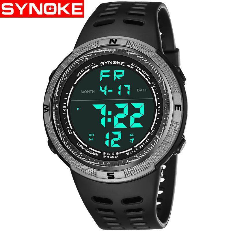 Men Outdoor Sports Watches Waterproof Digital LED Military Watch Men Brand Fashion Casual Electronics Luxury Wristwatches - Grey Malaysia