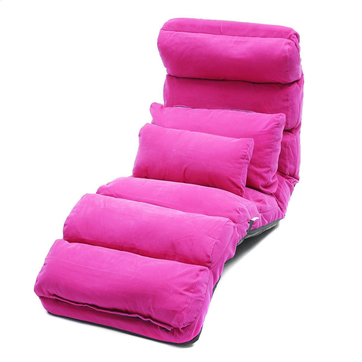 Lounge Sofa Bed Floor Recliner Folding Chaise Chair Adjustable Foldable AU Home Rose(Lengthen Size) - intl