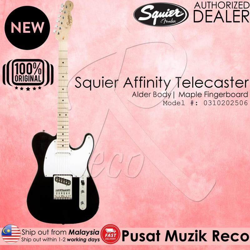 Fender Squier Affinity Telecaster Electric Guitar - Black Malaysia