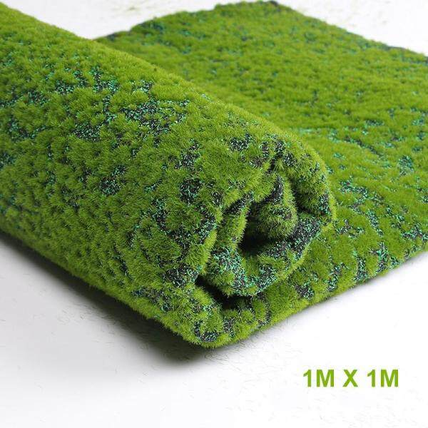 Nicehome Artificial Moss Fake Green Plants Faux Moss Grass for Shop Home Patio Decoration