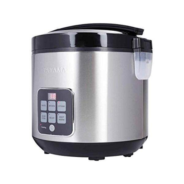Tayama Trc 50h1 Digital Rice Cooker Food Steamer 10 Cup Black