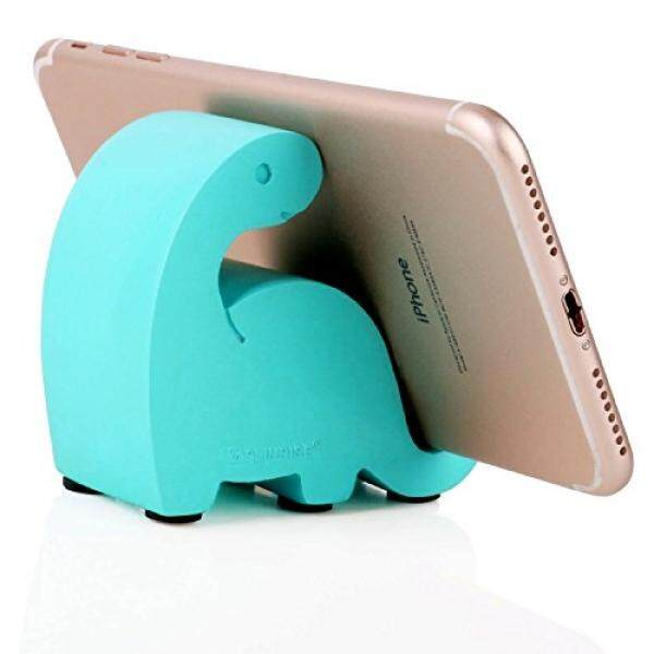 Plinrise Resin Art Craft Cute Mini Dinosaur Desktop Cell Phone Stand Mounts,Candy Color Animal Dino Smart Phone Holder For iPhone iPad Samsung Tablet Kindle (T-Blue) - intl