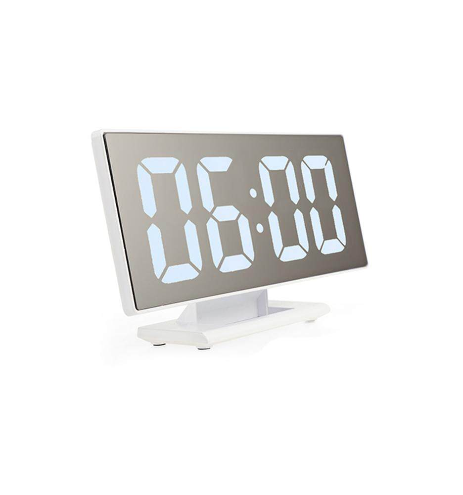 Multifunctional Large Screen Digital Display Electronic Table Clock Mute LED Mirror Alarm Clock