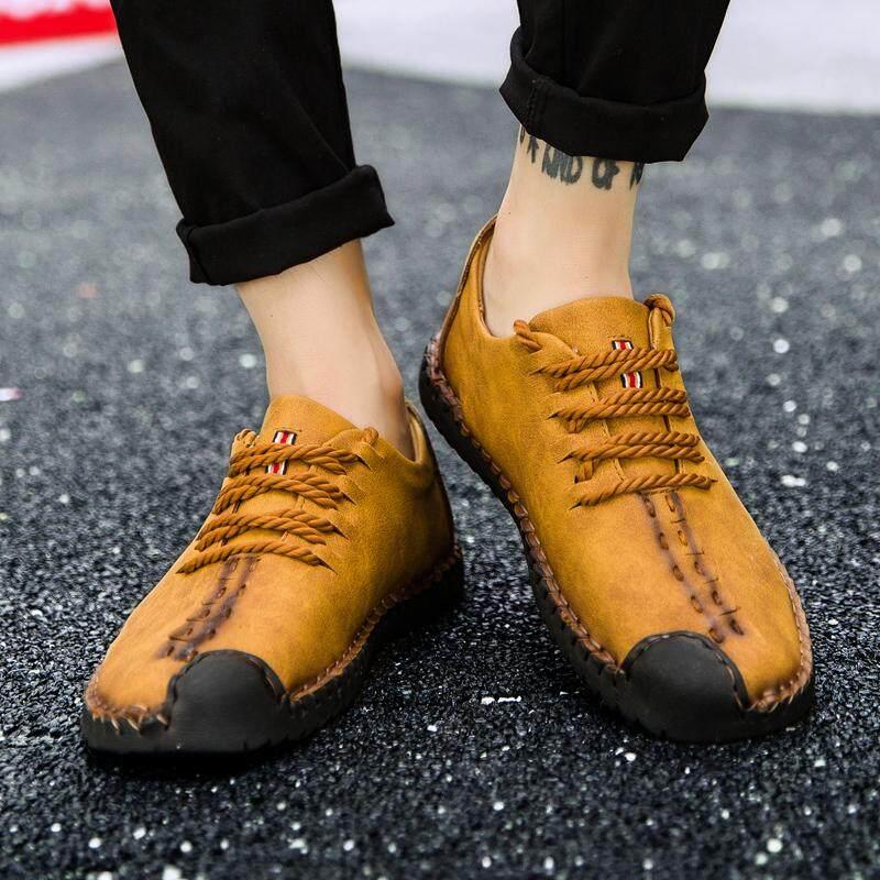 Yealon Sepatu Kulit Sepatu Kulit untuk Pria Kasual Sepatu Kulit untuk Pria Sepatu Kulit Sapi untuk Pria Sepatu Gaya Kasual Pria Kulit Datar Sepatu untuk Pria pria Flat Lembut Sepatu Kulit - 2