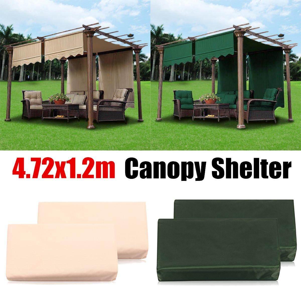 2Pcs 4.72X1.2m Sun Shade Pergola Canopy Outdoor Cover Garden Patio Shelter