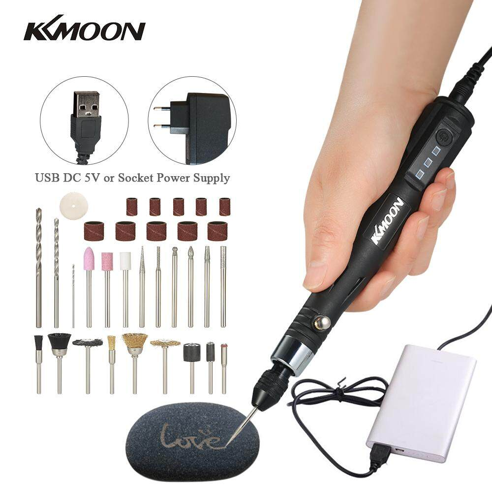 KKmoon 30W Mini Electric Grinder Drill Tool Engraving Pen Grinding Milling Polishing Tools EU Plug