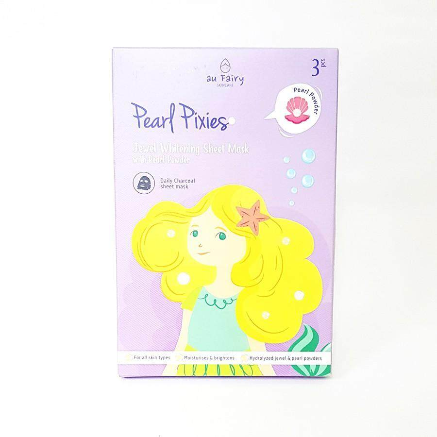 AU FAIRY JEWEL WHITENING SHEET MASK WITH PEARL POWDER 3'S