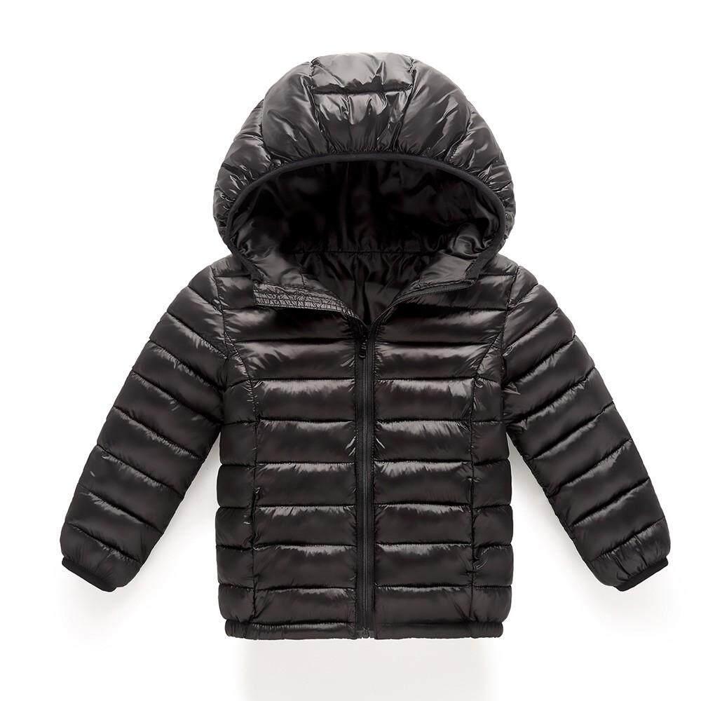 Hayleystore Bayi Perempuan Anak-anak Jaket Katun Mantel Berkerudung Musim Gugur Musim Dingin Hangat Pakaian