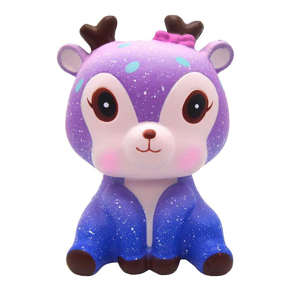 Fang Fang Cute Galaxy Deer Slow Rising Squishies Scented Charms Kawaii Squishy Slow Rising Squeeze Strap Kids Toy Gift By Fangfang_719.