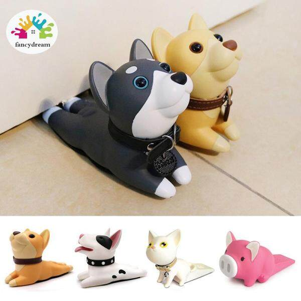 fancydream Cute Dog Cat Door Stopper Doorstop Door Wedge Cartoon Puppy Doors Stop Strong Grip Slip Resistant