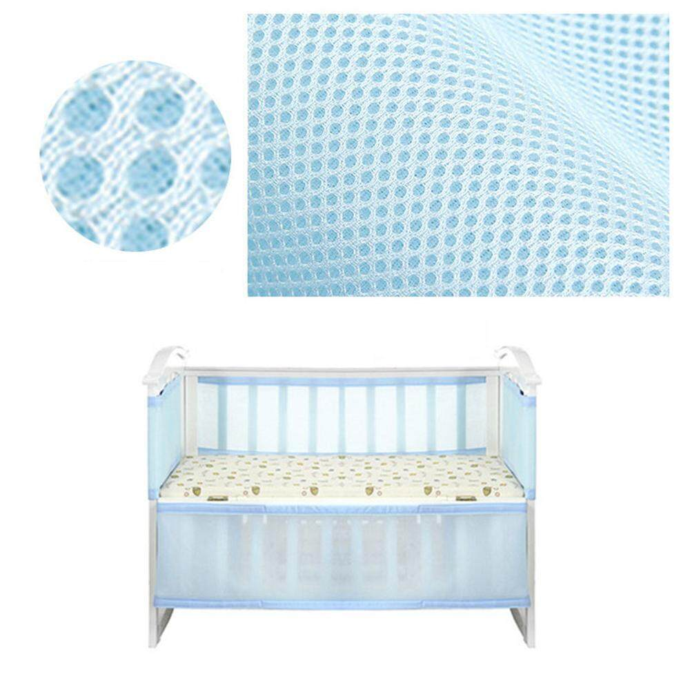 "Vankel Breathable Crib Bumper For All Sizes Cribs, 3d Stereo Air Circulation Mesh Crib Liner | Machine Washable | Promote Sleep | 2 Parts (134"" 63"")."
