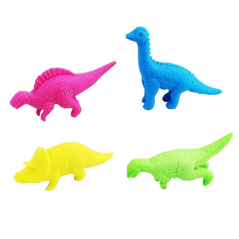 4 Pcs Linfang Mahasiswa Generik Indah Pemodelan Dinosaurus Kartun Penghapus Mini