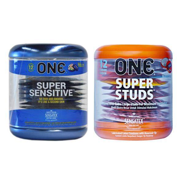One Super Sensitive Condoms 12s + One Super Studs 12s