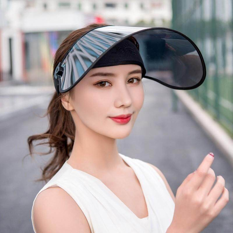 b09dee17b20ce Women Visor Empty Top Sun Hat Wide Large Brim Face Sunscreen Cap Foldable  Beach Travel Riding