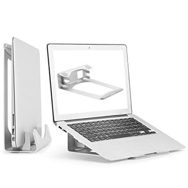 Aluminum Laptop Stand, 2 in 1 Vertical Laptop Holder for MacBook Pro/Air, Space Saver for Apple Notebooks by HUANUO - intl
