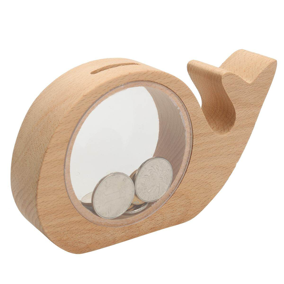 Creative Handcrafted Wooden Piggy Bank Saving Money Coin Box For Kids Gift By Moonbeam.