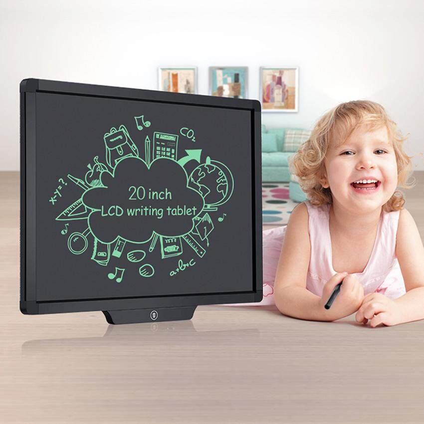 LCD Writing tablet, 20-inch Screen Electronic Writing Board Digital Drawing Board Conference display board for Kids and Adults at Home,School and Work Office Or Stores(black) - intl