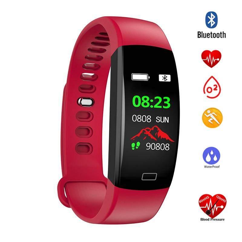 กำไลข้อมืออัจฉริยะสร้อยข้อมือ F64 Smartband Smartwatch กันน้ำการตรวจสอบการนอนหลับสายรัดข้อมือสำหรับออกกำลังกายสมาร์ทวอท์ชโทรขอความช่วยเหลือสำหรับ Ios Android By Amorfashion.