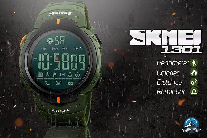 [LOCAL DELIVERY] SKMEI 1301 Smart Watch Outdoor Smart Watch Sports Watch - BLACK