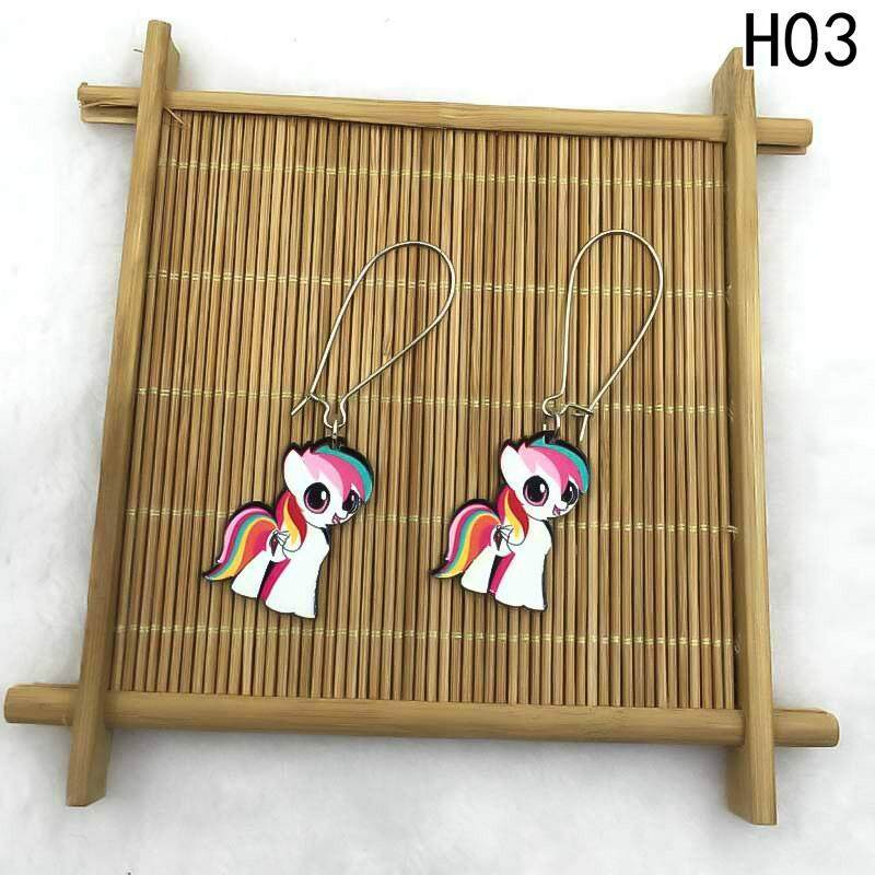 Kuhong Women New Fashion Cute Unicorn Personality Trend Earrings H03 - intl