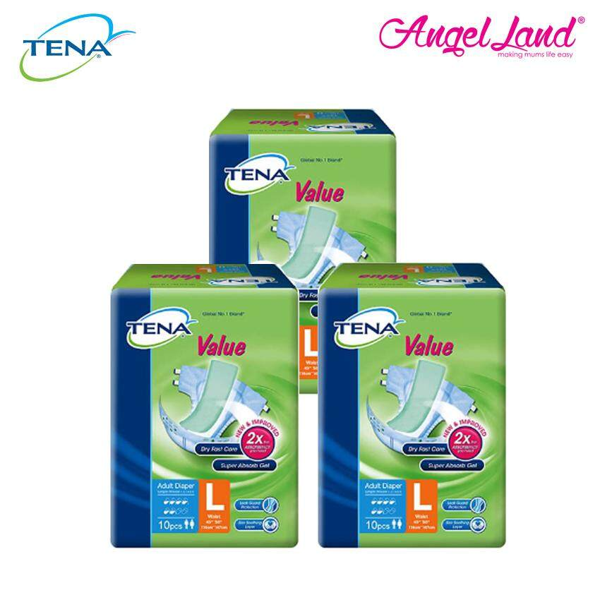 Tena Value Adult Tape Diaper L10 (3 Packs)