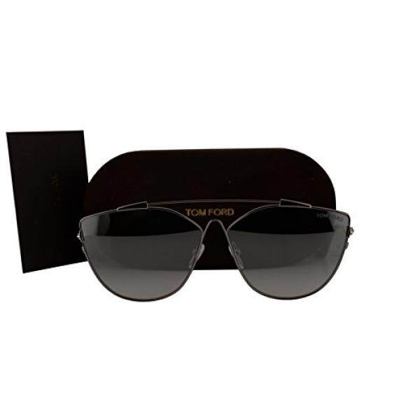 Tom Ford FT0563 Jacquelyn-02 Kacamata Hitam Perak Grey W/Biru Gradient Cermin Lensa 14X TF562-Internasional