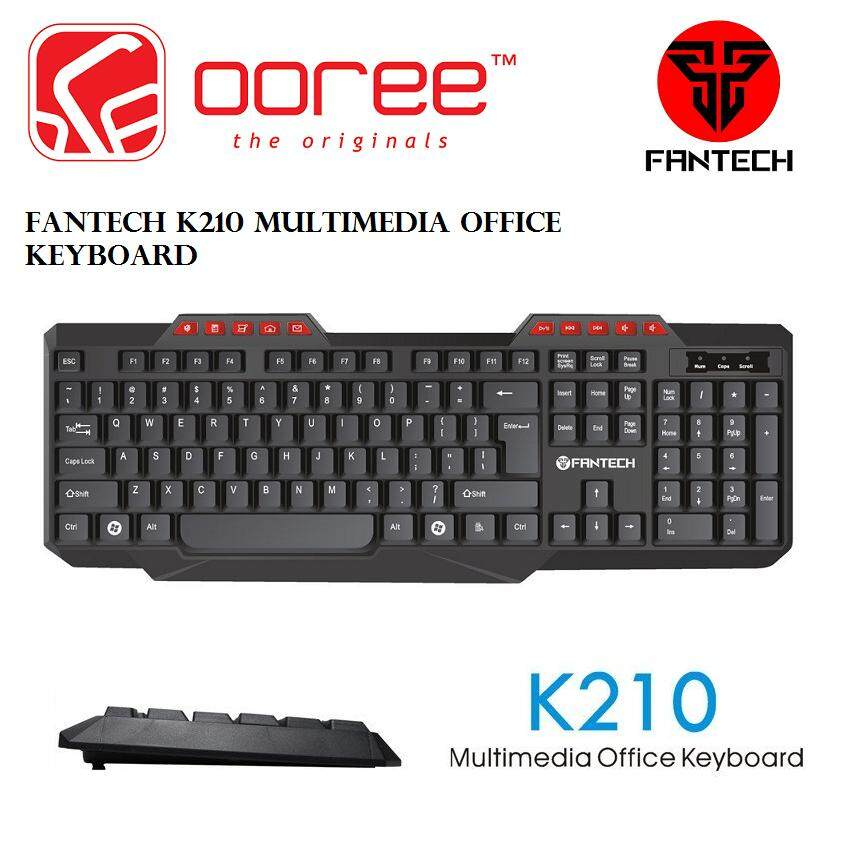 GENUNIE FANTECH K210 114 Key Wired USB 2.0 Multimedia Office Keyboard Malaysia