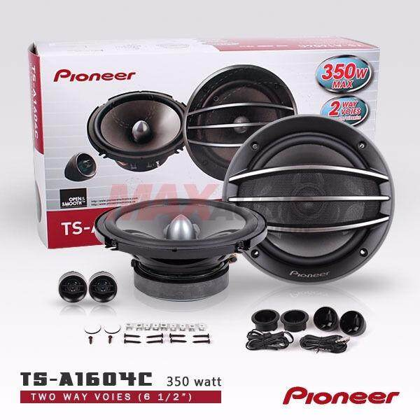 "ORIGINAL PIONEER TS-A1604C 6.5"" Separate 2-Way 350W Car Audio Component Speaker System"
