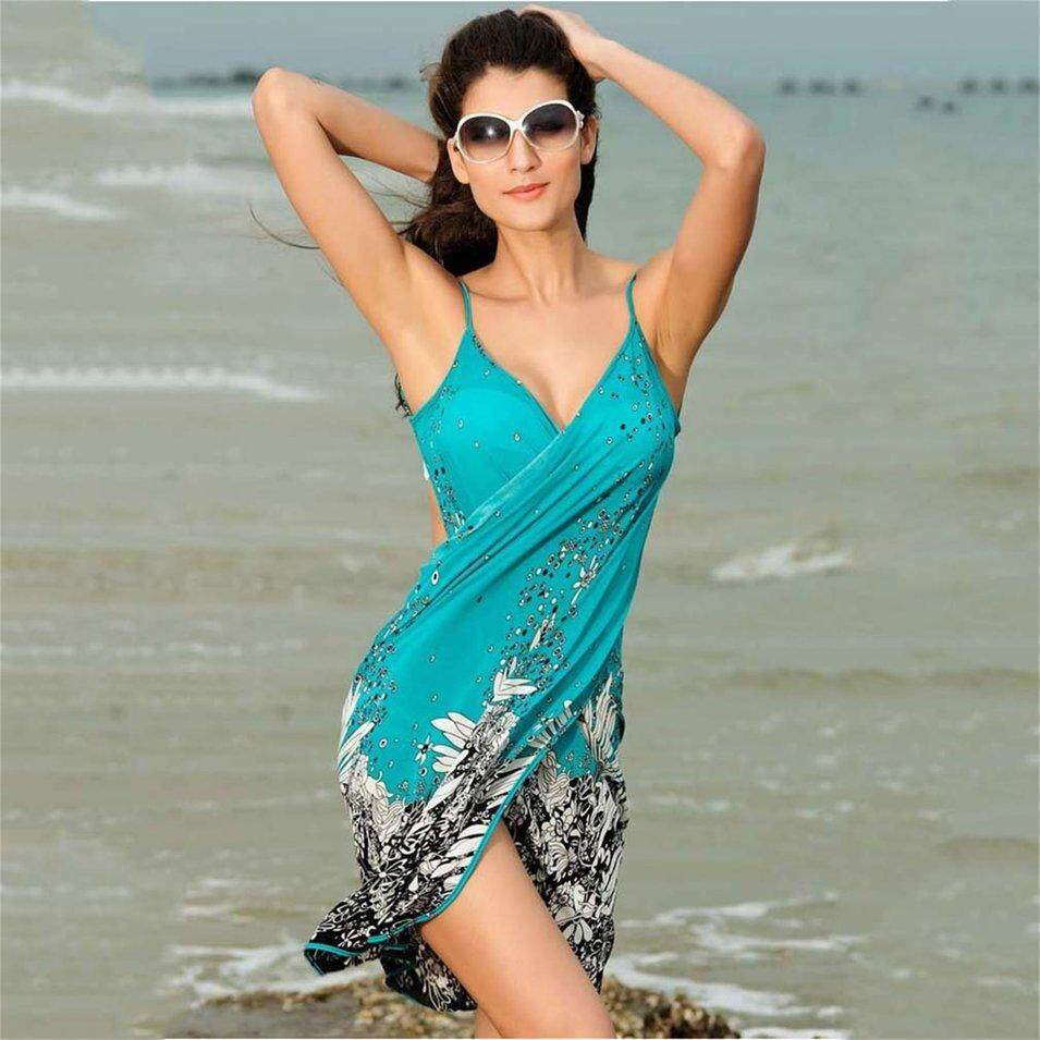 Be-Life Women Sexy Backless Sling Dress Floral Bikini Swim Suit Swimwear Beach Dress