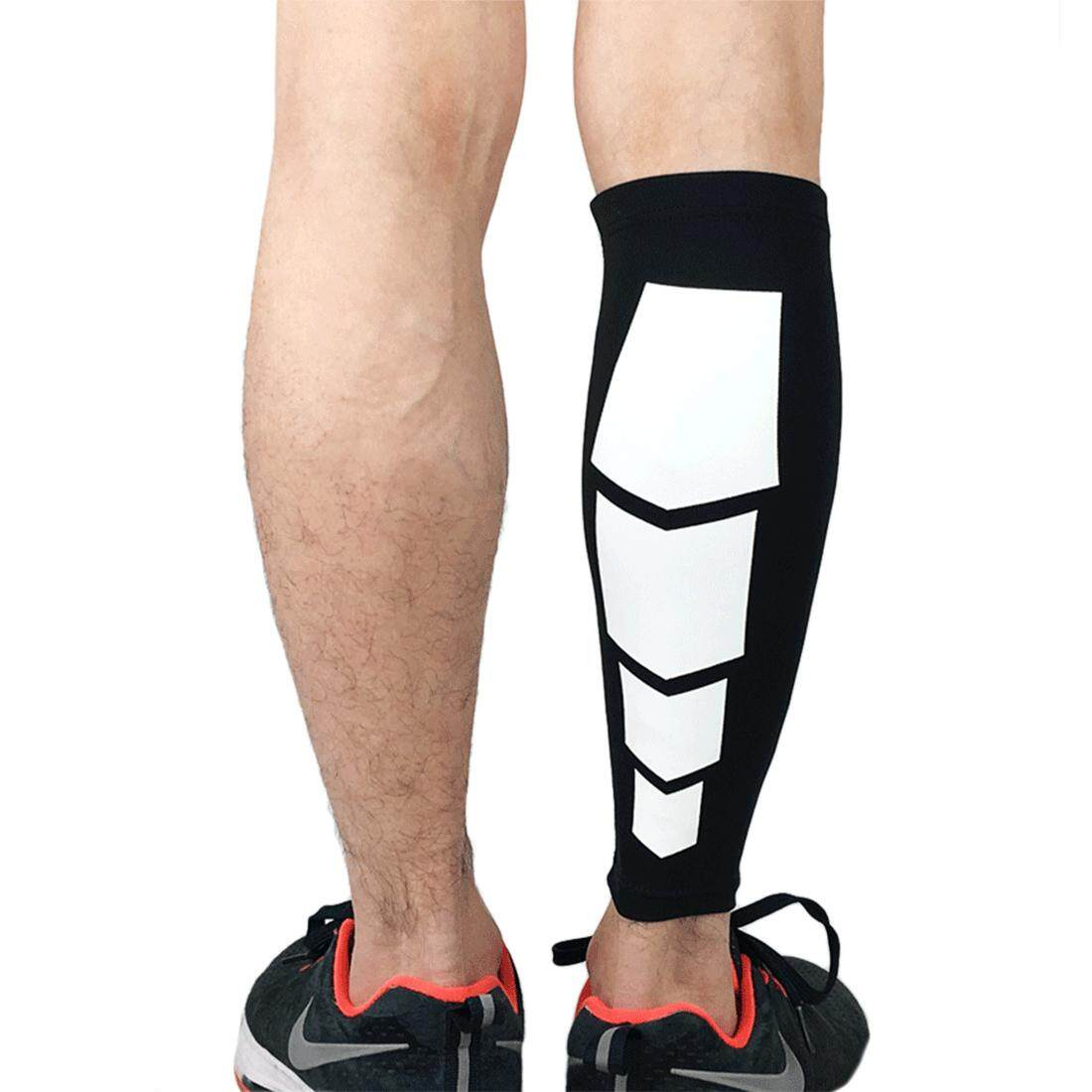 360WISH 1Pc Compressed Elastic Breathable Leg Guard Calf Socks Protector for Outdoor Climbing - Black M