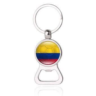 Hàng mới về huyia World Cup Football Hercule Cup Mascot Keyring Fans Souvenir Gift Keychain Colombia - intl so giá