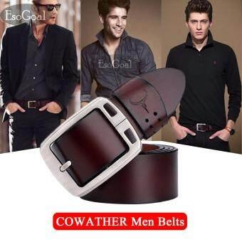 ราคาดีที่สุด EsoGoal เข็มขัดผู้ชาย หนังวัวแท้ 100% เข็มขัด ผู้ชาย เข็มขัด หนังแท้ - Men Belts Top Cowhide Genuine Fashion Leather Buckle Belts For Men ...
