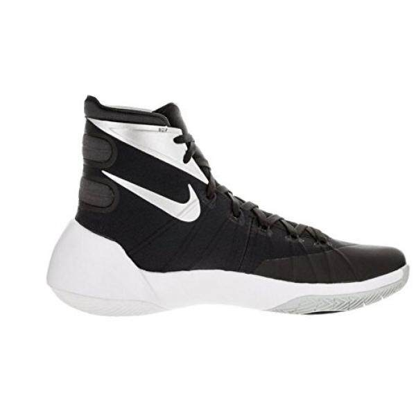 low priced 386fd b65b1 NIKE Womens Hyperdunk 2015 Team Basketball Shoe  Black Anthracite White Silver Size 8
