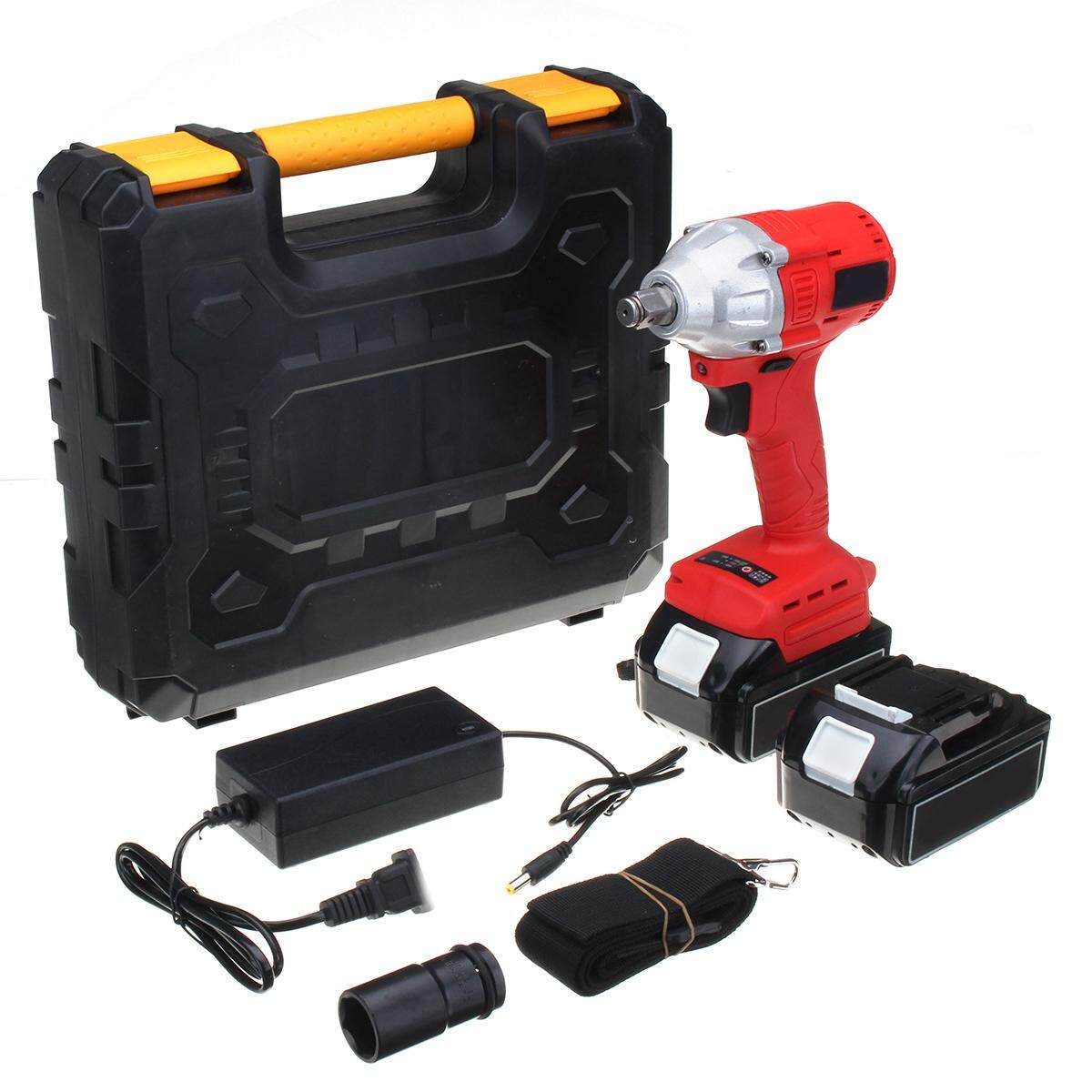 25V Electric Cordless Impact Wrench Power Rattle Car High Torque Driver Tool