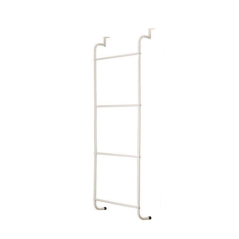 4-Layer Trapezoidal Hanging Over Door Towel Racks Bathroom Storage Shelves White - intl