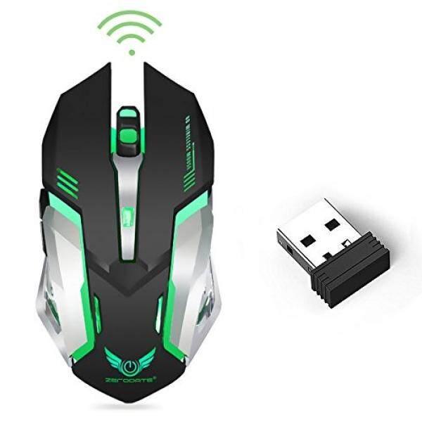 Wireless Optical Mouse Gaming dengan Penerima USB Linkstyle Warna Berubah Laptop Nirkabel Mouse, isi Ulang