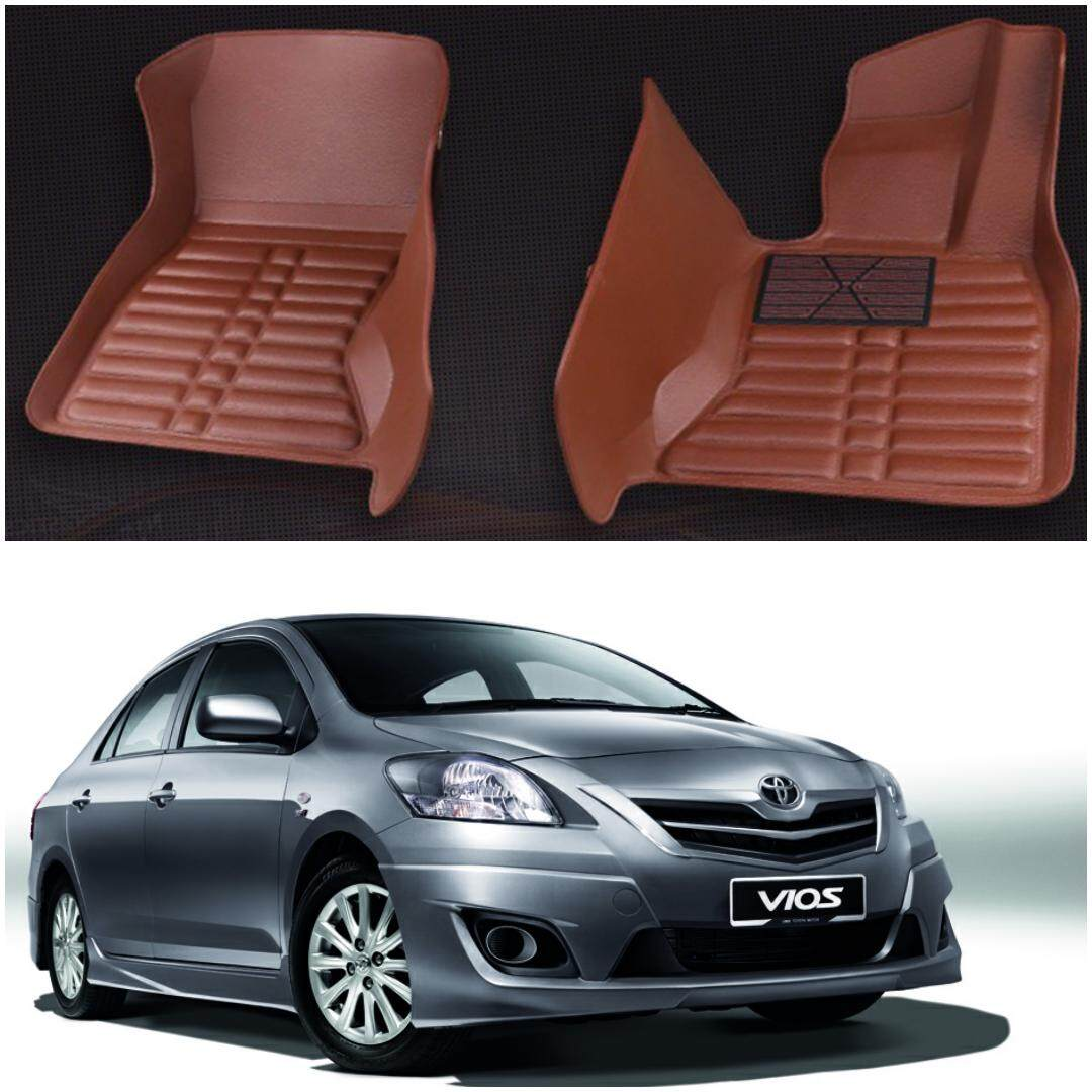 READY STOCK TOYOTA VIOS CAR FLOOR MAT WATERPROOF ( FULL SET LEATHER )
