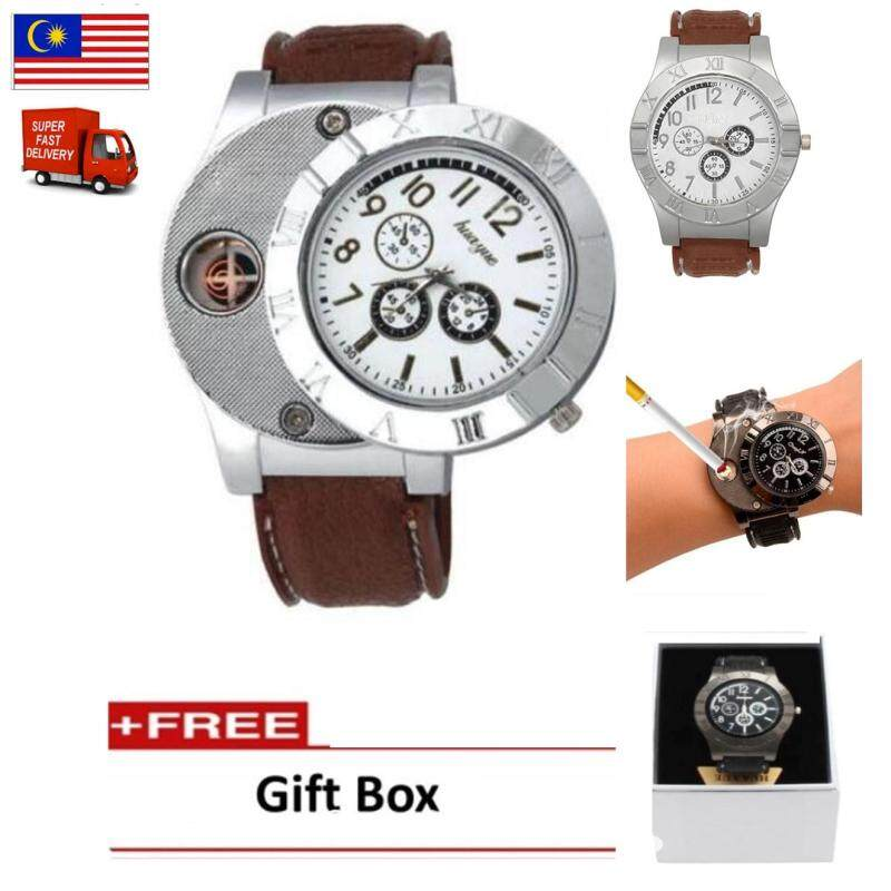 Mens  Electronic Lighter Rechargeable Watch Fashion Chronograph Watch With Flameless  Lighter Malaysia