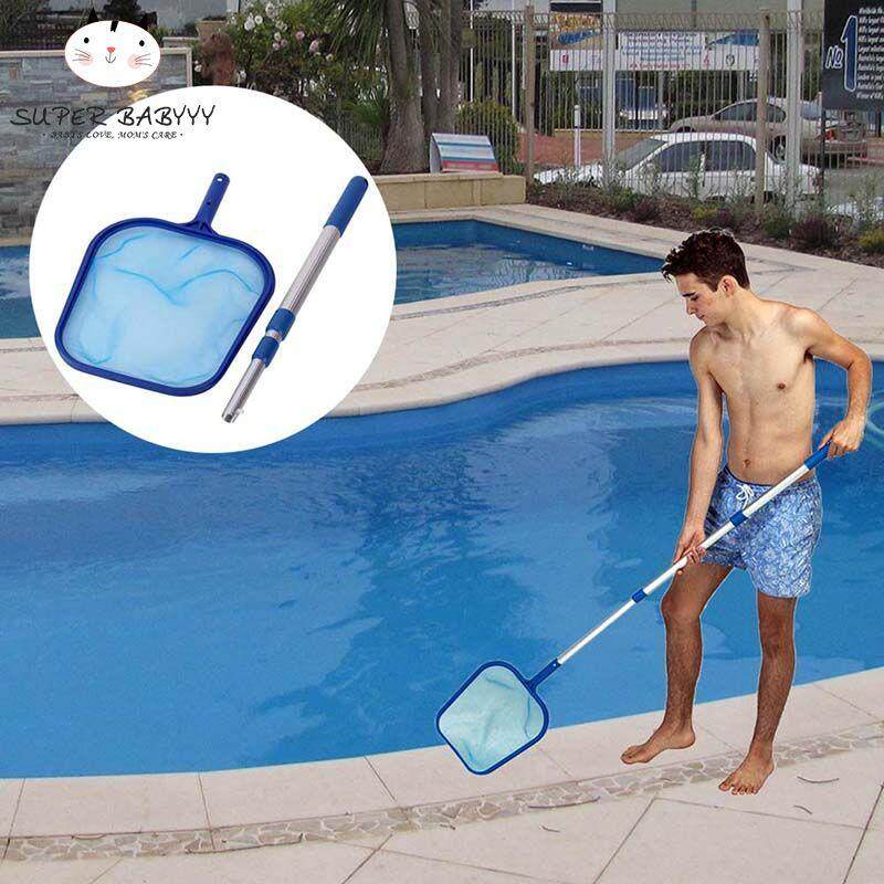 Hình ảnh SBY Pool Leaf Cleaning Net Skimmer with Telescopic Pole Detachable for Spa Koi Fish Pond Tub Cleaning
