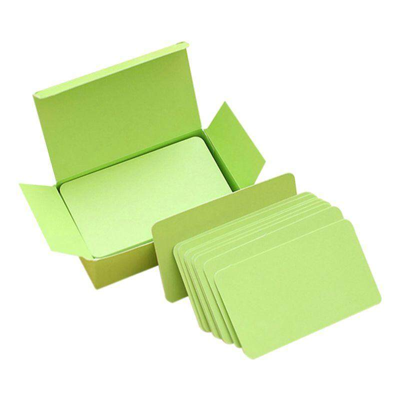Blank Handwritten Paper Message Card Business Thank You Cards for Memo Wedding Party Greeting green -