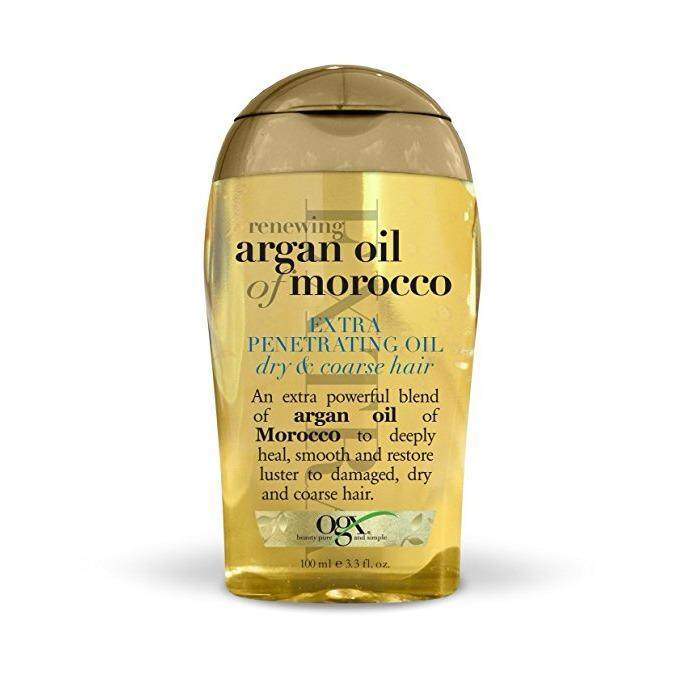 [ iiMONO ] OGX Renewing Moroccan Argan Oil Extra Strength Penetrating Oil for Dry/Coarse Hair, (1) 3.3 Ounce Bottle, Paraben Free, Sulfate Free, and Sustainable Ingredients