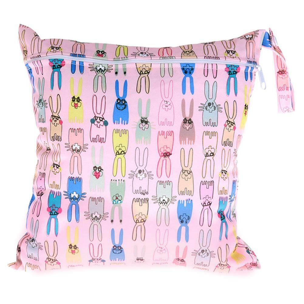 Baby Nappy Waterproof Reusable Washable Wet Dry Cloth Zip Diaper Swimmer Bag - intl