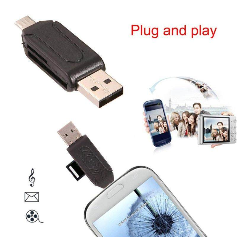 Bảng giá GOFT Black ABS Reliable Micro USB OTG TF T-flash Card Reader for Cell Phone PC Phong Vũ