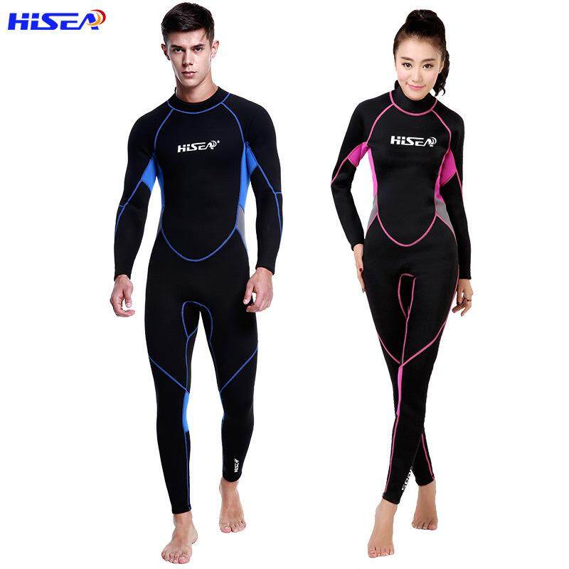 e47200d76ce Hisea 3 MM Men and Women Neoprene Wetsuit Jahitan Warna Berselancar  Menyelam Peralatan Diving suit