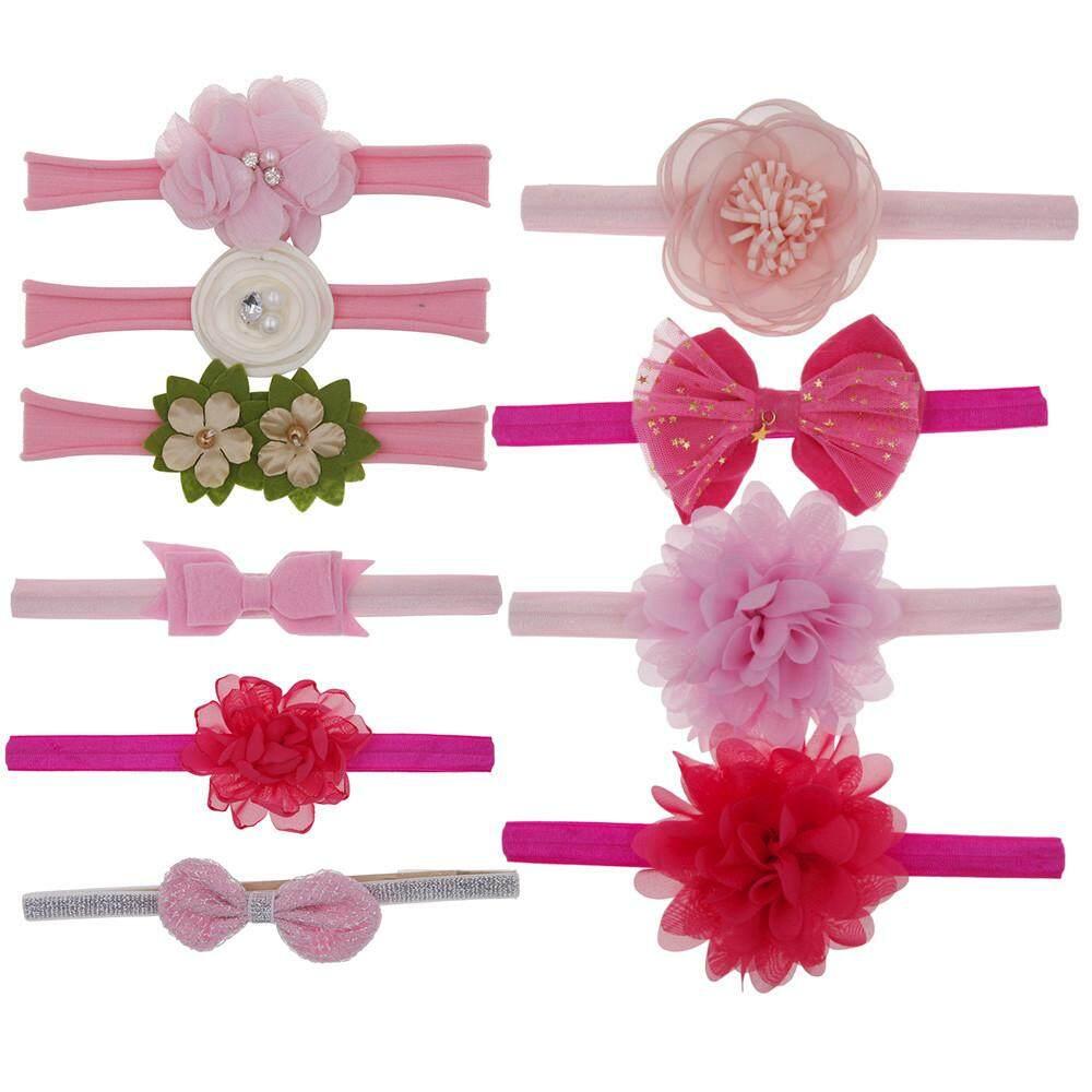 832635feb 10Pcs Kids Floral Headband Hair Girls baby Bowknot Accessories Hairband Set