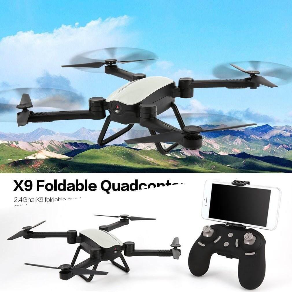 X 9 RC Drone 2.4G FPV Foldable Qua * dcopter 0.3MP Wifi kamera ketinggian memegang