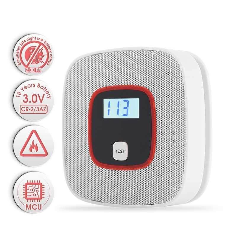 Hình ảnh lagobuy Low battery warning Co Carbon Gas Detector Smoke Alarm Home Security Alarm - intl