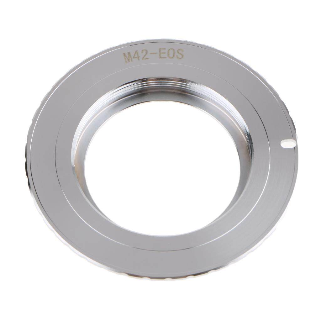 Miracle Shining M42 Chips Lens Adapter Ring for AF III to Canon EOS EF 550D 7D 5D EMF Silver